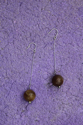 Apple jade pyrite drops