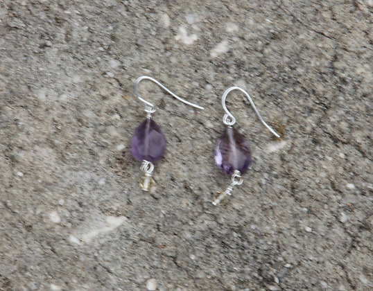 Amethyst, Citrine Drop