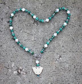 Bone Butterfly Necklace