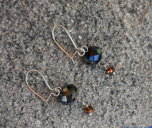 Vintage Sparkle  Crystal Earrings