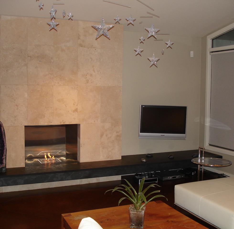 6203 Upstairs Fireplace