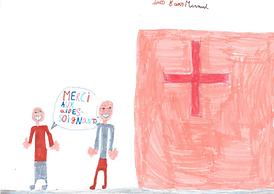 dessin soutien INES 8 ans