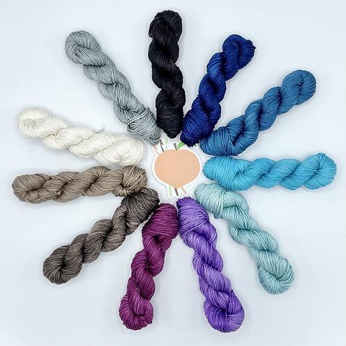 Mini Individual Skeins  (Blues|Purples|Neutrals)