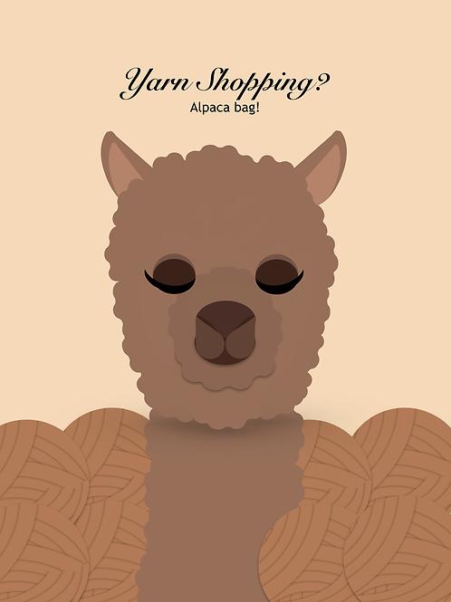 Yarn Shopping? Alpaca Bag! Yarn/Project Journal