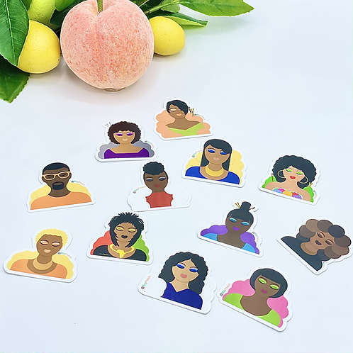 Peach's People Stickers - Set of 12