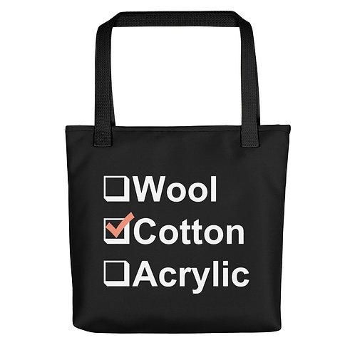I Prefer Cotton Tote - White Letters