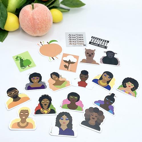 All Regular Stickers - Set of 19