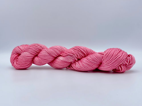 Rose Apple Colorway on 100% Pima Cotton DK Weight