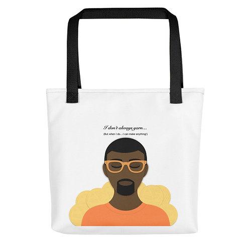 Be Peachy Black Tote bag