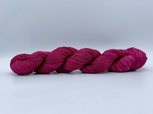 Fermented Grapes Colorway on 100% Pima Cotton DK Weight