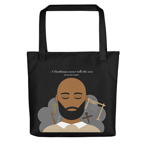 A Gentleman Never Tells Tote bag