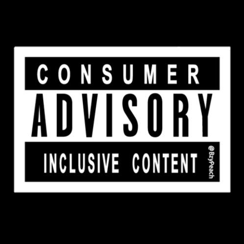 Inclusive Content Sticker