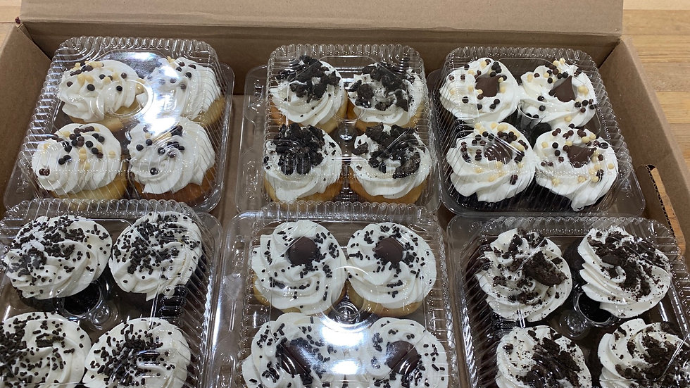 4 Pack of Assorted Cupcakes