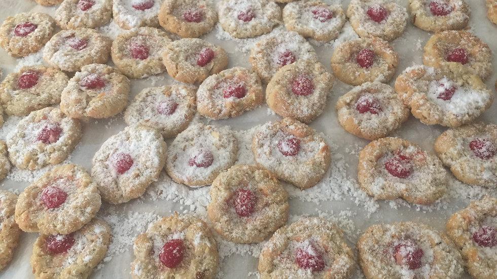 Cherry Almond Chew Cookies