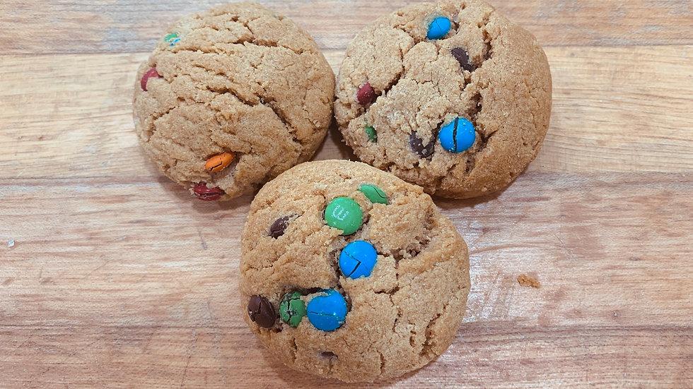 Gluten-free Peanut-butter M&M Cookies