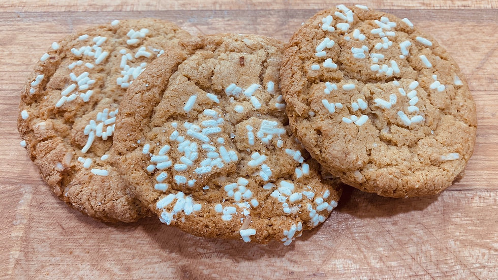 Gluten-free White Chocolate Coconut Almond Cookies