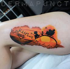 hakuna matada tattoo, best tattoos, lion