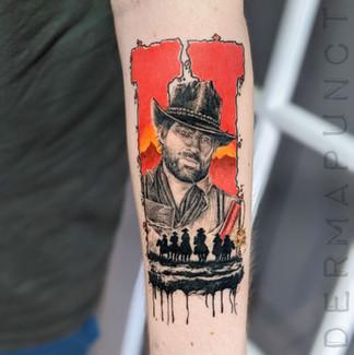 red dead redemtion tattoo, dermapunct.jp