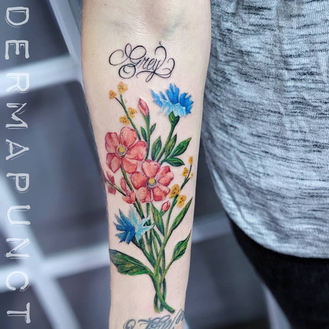 best watercolor tattoo, floral tattoos,