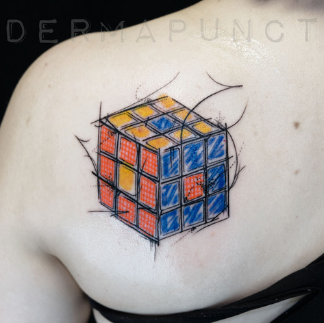 rubiks cube tattoo, dermapunct, 1.jpg