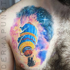hot air ballon tattoo, best tattoos huds