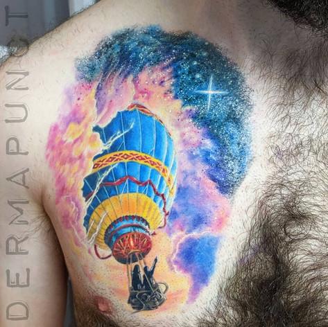 hot air ballon tattoo, best tattoos huds