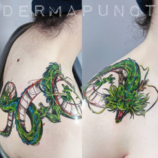 shenron tattoo, sketchy tattoos, dermapu