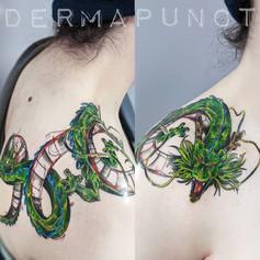 shenron tattoo, sketchy tattoos, dermapu