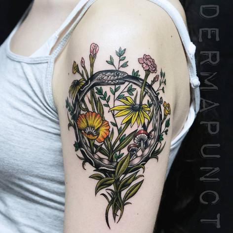 oroborous tattoo, dermapunct.jpg