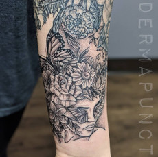 flower head tattoo, best tattoos, dermap