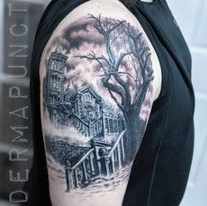 best tattoos hudson valley, haunted hous