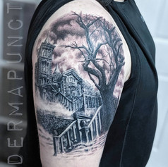 best tattoos hudson valley, haunted hous