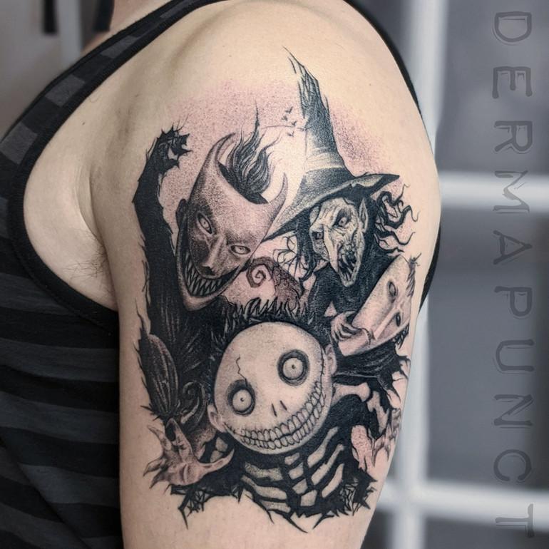 lock stock and barrel tattoo, dermapunct