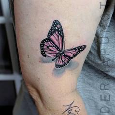 realistic butterfly tattoo, dermapunct.j