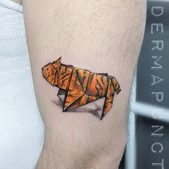 best tattoos realistic, origami tattoos,