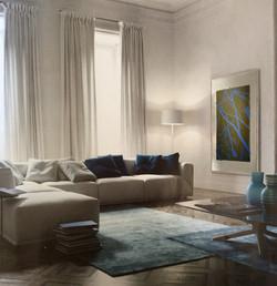 blue livingroom amb