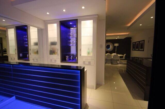 Bar Area with LED lighting