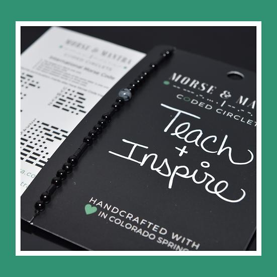 Teach + Inspire | Onyx Style Silk Cord Bracelet