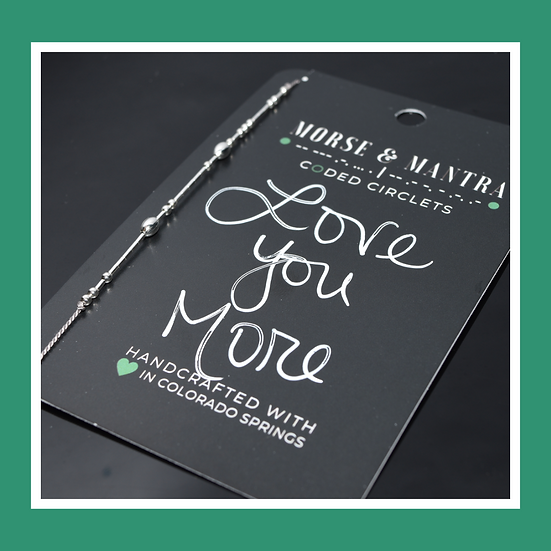 Love You More | Classic Style Silk Cord Bracelet