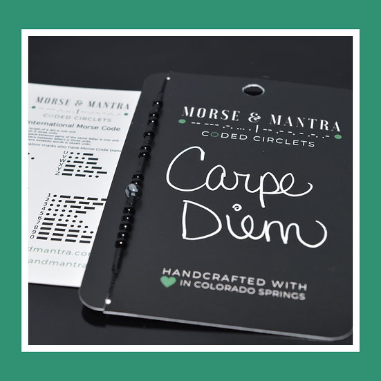 Carpe Diem | Onyx Style Silk Cord Bracelet