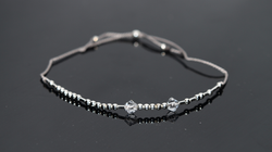 Classic Style Silk Cord Bracelet with Swarovski Crystal Accents