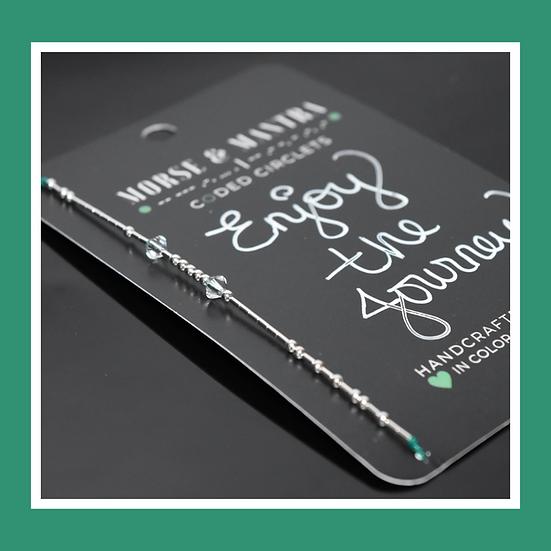 Enjoy The Journey | Classic Style Silk Cord Bracelet · Emerald