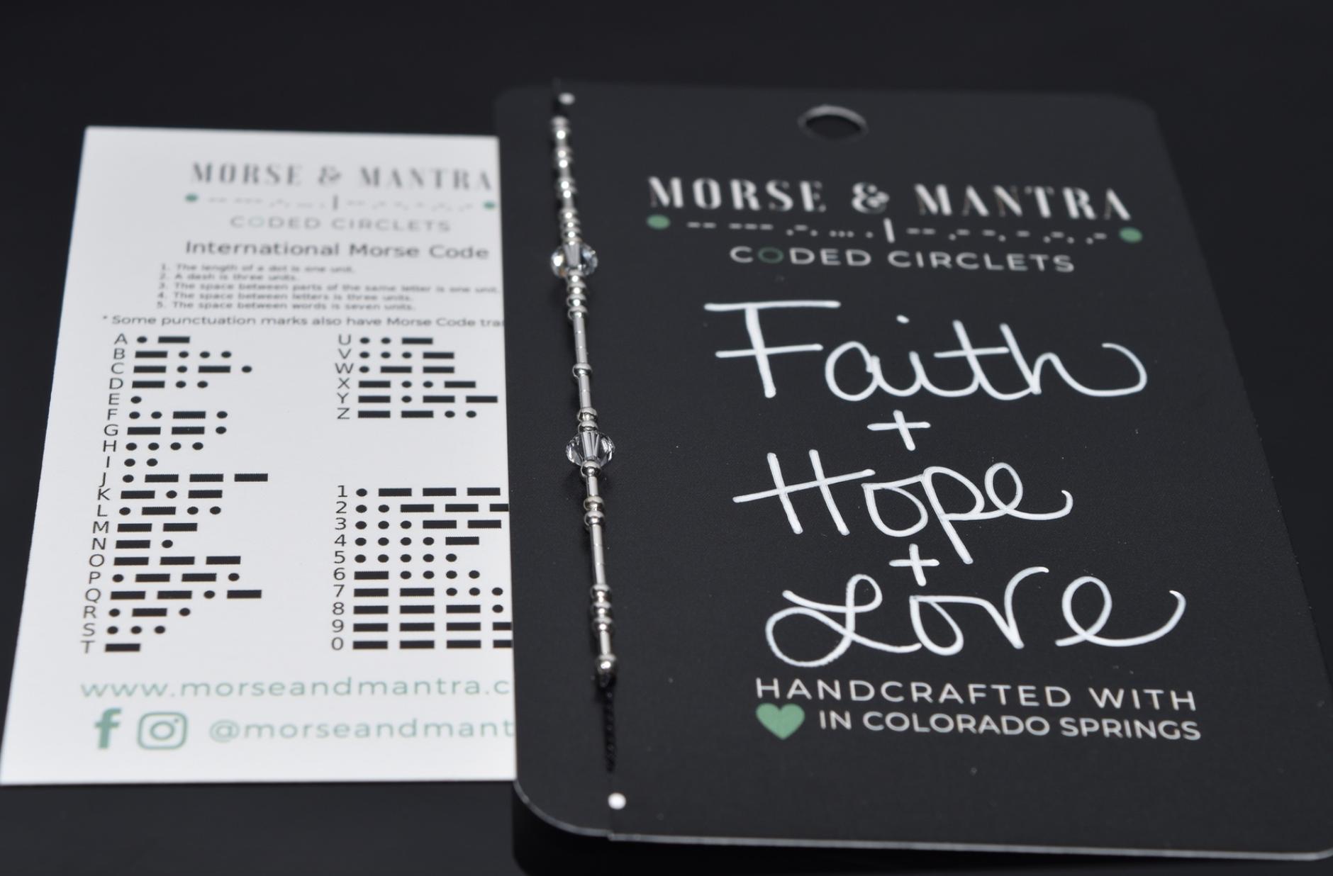 Faith + Hope + Love | Classic Style Silk Cord Bracelet