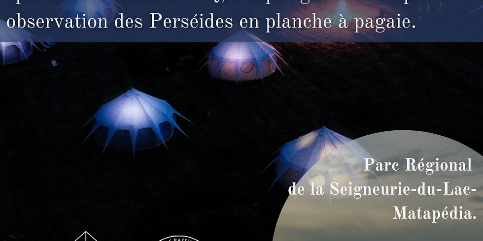 Dormir et pagayer sous les perséides en Gaspésie