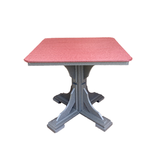 "Square Table- 40"" Square w/ Pedestal Base"