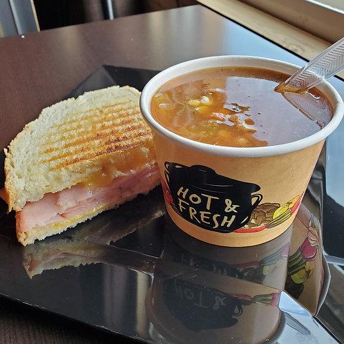 Half a Panini with Soup