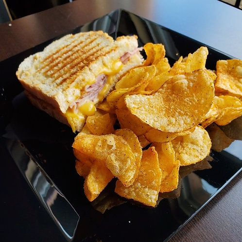 Half a Panini with Chips