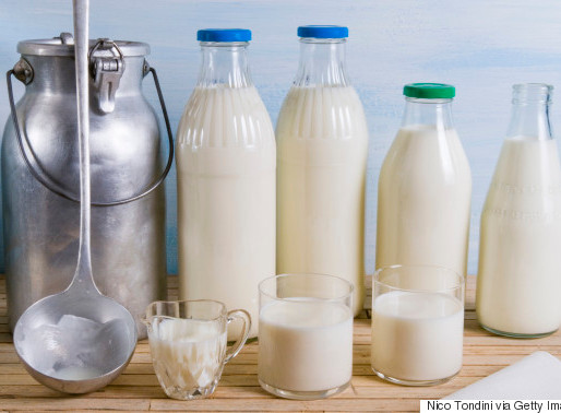 Different types of milk.