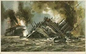 What happened after the war at sea between Britain and Germany?
