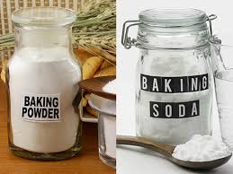 What is the purpose and difference between baking soda and baking powder while cooking?